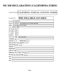 declaration form mc 030 fillable online mc 030 declaration california form us state
