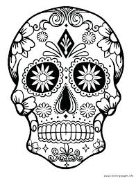 pictures of skulls to color. Exellent Skulls Skull Coloring Page Pages Skulls Day Of The Dead  Pictures To Color Sugar And Roses Easy  In I