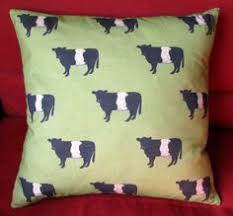 belted galloway pillow
