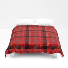 red and black plaid flannel duvet cover