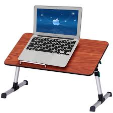 costway portable height adjule laptop bed tray table standing desk breakfast tray 0
