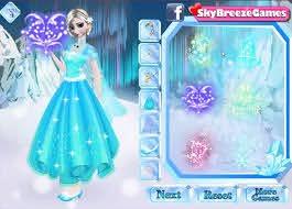 frozen elsa dress up and makeup games