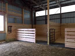 easy inexpensive horse stalls at the end of an arena til i can afford to build