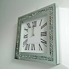 hometime wall clock 14 black glass