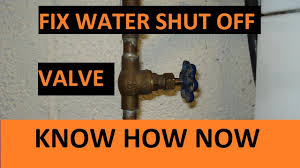 Water Valve Wont Shut Off Water Youtube