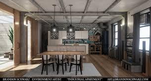 ArtStation Modern Industrial Apartment Game Environment - Industrial apartment