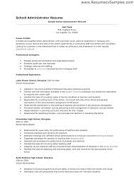 School Administrator Resume Template Sample Administration Resume