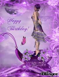 Happy Birthday Purple Fairy Animated Picture Codes And Downloads