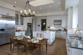 ... Astonishing Decorating Design With Comfy Kitchen Chairs Interior Ideas  : Fabulous Black Metal Chandeliers Also Rectangular ...