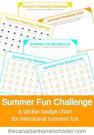 summer fun challenge printable badge charts