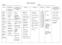 Abc Behaviour Chart Example Abc Checklist Example 4 If Youre A User Experience