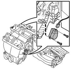 repair guides blend door actuator removal installation location of blend door actuator for temperature control