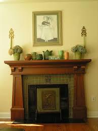 craftsman fireplace mantel