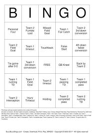 buzzword bingo generator randomly generated football bingo card football party football