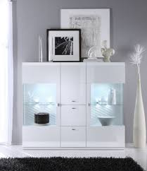 Taya Hochglanz Highboard Weiss Esszimmer Modern