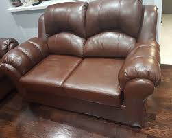 Bonded leather sectional sofa and loveseat Couches Futons