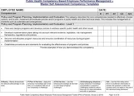 Employee Self Assessments Beauteous Public Health Competency Based Employee Performance Management Self