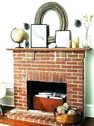 brick fireplace mantel decor ideas red best white fir