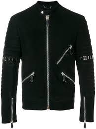 philipp plein xavier leather moto jacket
