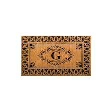 indoor outdoor monogrammed letter g door