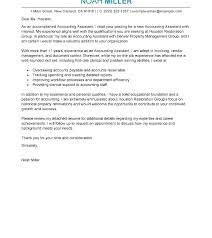 Accounting Assistant Cover Letter Template Account Payable