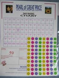 Pearl Of Great Price Daily Reading Chart Heartnotes Amazon