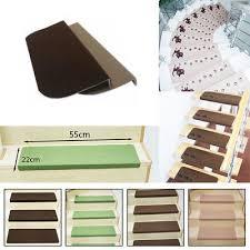 good us 4pcs adhesive carpet stair treads mats pad staircase non slip step rug cover uk