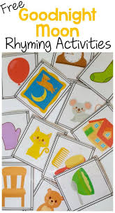 3 free rhyming activities for goodnight moon cards for playing memory i spy and