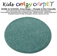 round 12 surfer dude kids crazy carpet home school area rugs people pet friendly r2x stain resistance odor reduction