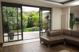 interior sliding glass door. Interior Brown Sofa With Sliding Glass Door Design Ideas As The Modern House N