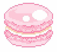 Pink Pixelated Macaroon
