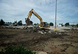 work begins on the new at the site of the old fred meyer on