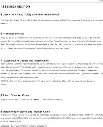 CASAR GARAGE DOOR OPENER User Manual Start by Reading These ...