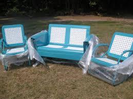 lovely light blue aqua border frames glider loveseat for gardens