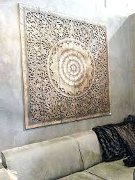 large carved wooden wall art