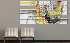 office artwork canvas. Exellent Artwork A Unique Office Wall Art And Display System 5 Panel Yellow Orange Black  On White Canvas For Artwork L