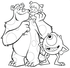 Monster Inc Coloring Pages Pdf Monsters Inc Coloring Pages