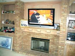 mounting tv on brick fireplace install mount brick fireplace mount brick fireplace hide