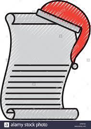 Santa List Template Cartoon Christmas Wish List With Hat Of Santa Claus Template