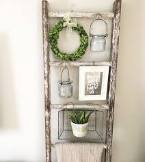 impressive ideas decorative wall ladder home design best 25 ladders on rustic wooden shelves for
