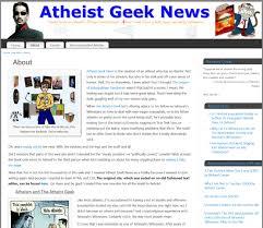 dare ye link to atheist geek news atheist geek news here s
