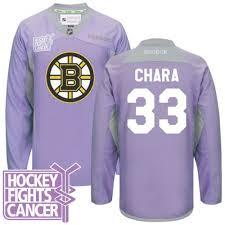 Boston Jersey 33 Cancer Fights Purple Bruins Zdeno Chara Hockey