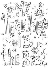 the best coloring pages. Unique Pages My Teacher Is The Best Doodle Coloring Page To The Coloring Pages O