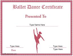 Dance Award Certificate Certificate Templates Certificate Street Free Award