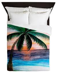 sunset palm tree duvet covers duvet covers and duvet sets by gifts by the beach