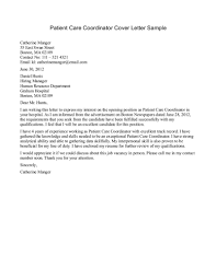 Cover Letter For Client Care Coordinator Adriangatton Com