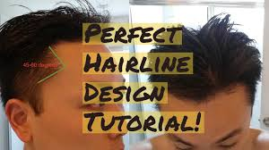 Hair Line Design Transplant How To Draw The Perfect Hairline Design Tutorial Youtube