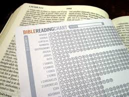 Bible Reading Chart Checklist Of What You Have Read And The