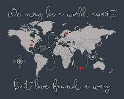 long distance relationship gift world map gift for boyfriend gift for friend ldr romantic gift missing you love e wf577