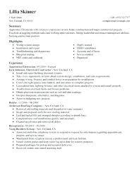 Electrical Apprentice Resume Samples Sample Electrician Resume Skinalluremedspa Com